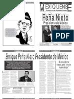 Versión impresa del periódico El mexiquense 3 septiembre 2012