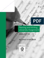 Planning and Writing University Assignments