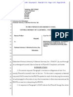 Walker v NACS National Attorney Collection Services FDCPA Answer