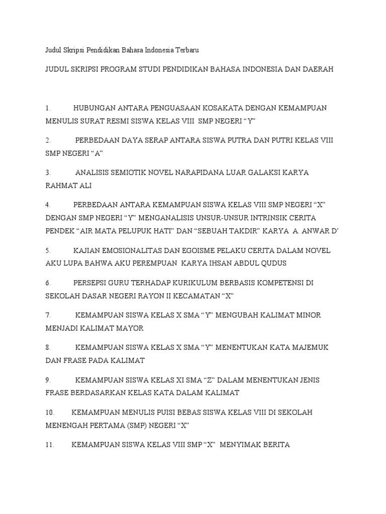 Judul Proposal Penelitian Bahasa Indonesia Ilustrasi