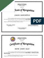 Certificate Scuaa