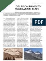 L'impatto del riscaldamento globale sui ghiacciai alpini
