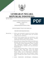 UU No.11 THN 2012 Tentang Sistem Peradilan Pidana Anak