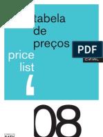 Cifial - Tabela de Preços 2008