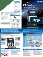 Hitachi PH Series Industrial Continuous Inkjet Printers Literature