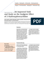 Synthesis with Improved Yield and Study on the Analgesic Effect of 2-Hydroxyphencyclidine