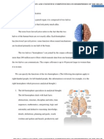 BRAIN LATERALIZATION AND COGNITIVE COMPETENCIES ON HEMISPHERES OF THE BRAIN