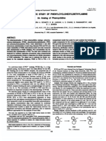 A Pharmacokinetic Study of Phenylcyclohexyldiethylamine