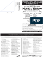 MSF Benefit Horse Show Prize List