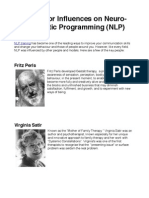 The Major Influences on Neuro-Linguistic Programming (NLP)
