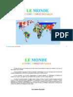 Géographie Le Monde en couleurs et détaillé
