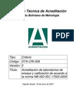 DTA-CRI-009 V5 17025 2005