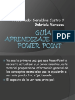Guía De Aprendizaje  de Power  Point