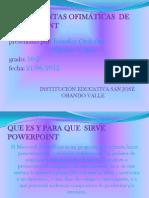 HERRAMIENTAS OFIMÁTICAS  DE POWER POINT jenifer- tatiana