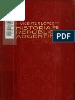 López, Vicente. F. Historia de la República Argentina
