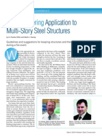 Fire Engineering Application to Multi-Story Steel Structures