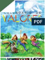 Calendario de Valores 2012 2013