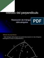perpendiculo metodo de resolucion de triangulo esferico