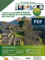 XX Congreso Peruano XI Congreso Internacional de Rehabilitación