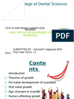 Post Natal Development of Mandible