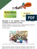 Exemplo a ser seguido Patos é 16º maior consumo do interior no País
