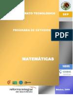 Programa de Estudios de Matematicas