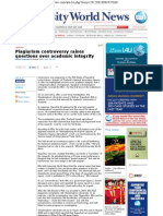 Plagiarism Controversy Raises Questions Over Academic Integrity - World University News 18 Aug 2012