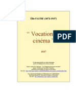 Faure Vocation Cinema