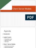 Client-Server models