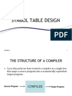 Symbol Table Design (Compiler Construction)