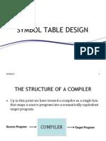 Symbol Table Design (Compiler Construction)