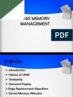 UNIX Memory Management