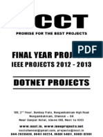 2012 Dot Net Project Titles for Colleges