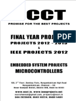 Embedded System 2012-13 Project Titles