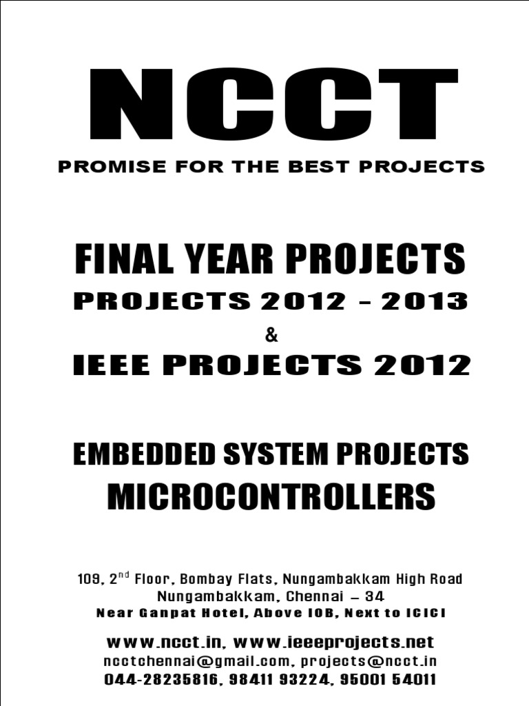 NCCT - 2012 - 2013 IEEE Projects List - Embedded System Projects ...