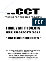 NCCT - 2012 - 2013 IEEE Projects List - MATLAB Projects