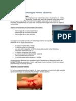 Hemorragias Internas y Externas