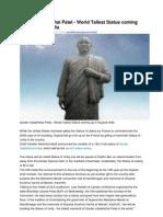 Sardar Vallabhbhai Patel World Tallest Statue Coming