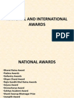National and International Awards n