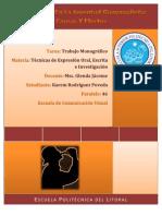 Monografía Alcoholismo en la Juventud Guayaquileña