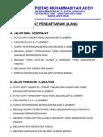 Persyaratan Pendaftaran Ulang Mahasiswa Baru Tahun Akademik 2012/2013
