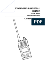 HX270E Owners Manual