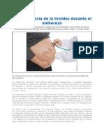 La Importancia de La Tiroides Durante El Embarazo