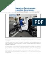 Moto Japonesa Funciona Con Excrementos de Animales