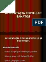 ALIMENTAŢIA COPILULUI SĂNĂTOS