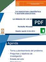 Política educativa linguística en Colombia