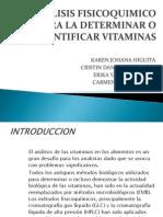 Analisis Fisicoquimico Para La Determinar o Cuantificar Vitaminas