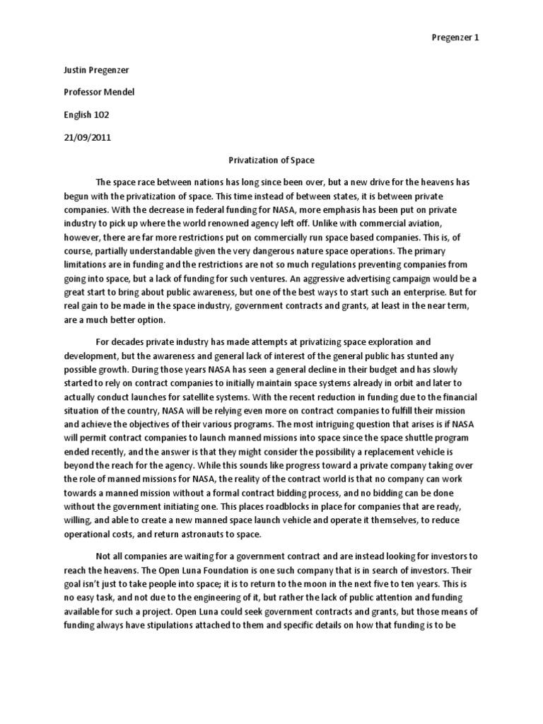 Nasa Essays: Examples, Topics, Titles, & Outlines