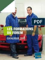 Les Formations Du Forem - Catalogue 2010