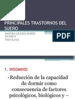 PRINCIPALES TRASTORNOS DEL SUEÑO